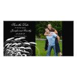 Elegant swirls save the date wedding photocard photo card