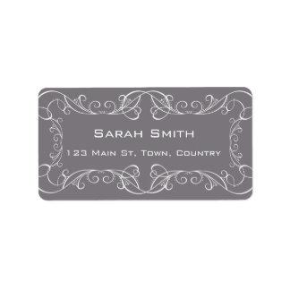 Elegant Swirls Wedding Return RSVP Labels