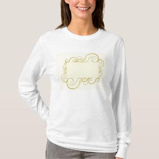 Elegant swirly frame in gold T-Shirt