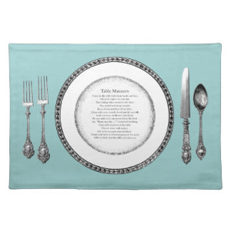 Elegant Table Manners Placesetting Placemat