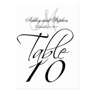 Elegant Table Number Cards for Weddings