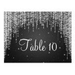 Elegant Table Number Night Dazzle Black Postcard