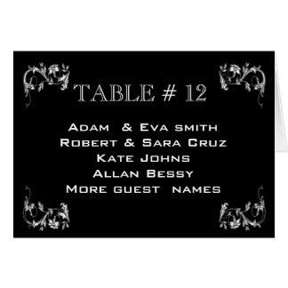 Elegant Table number template wedding Card