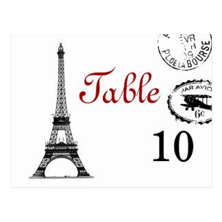 Elegant Table Number Vintage Paris Postcard