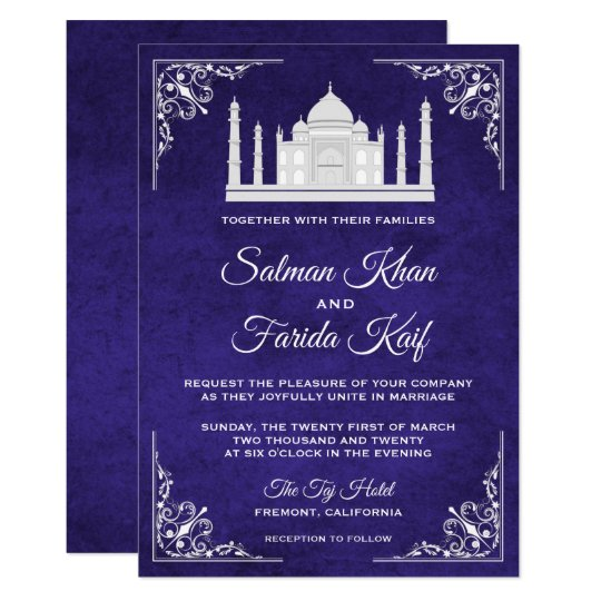 Gold And Purple Wedding Invitations: Royal Purple Gold Ornate Crown Wedding Invitation