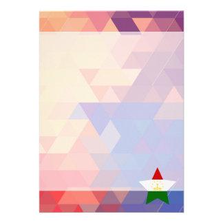 """Elegant Tajikistan flag heart 5"""" X 7"""" Invitation Card"""