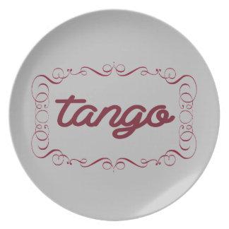 Elegant Tango Dinner Plate
