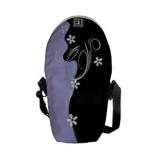Elegant Tanzanite Floral Courier Bag