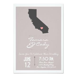 Elegant Taupe California Wedding Invitation