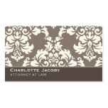 Elegant Taupe Damask Professional Business Card