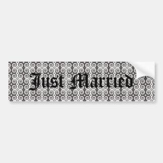 Elegant Taupe Swirls Bumper Sticker