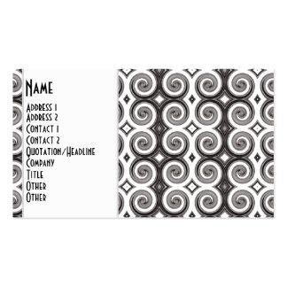 Elegant Taupe Swirls Business Card Templates