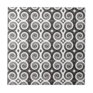 Elegant Taupe Swirls Ceramic Tiles