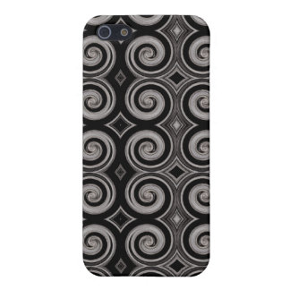 Elegant Taupe Swirls Cover For iPhone 5