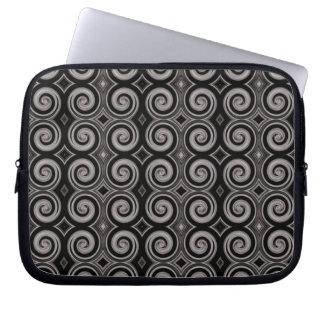 Elegant Taupe Swirls Laptop Sleeves