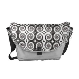 Elegant Taupe Swirls Messenger Bags