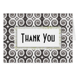 Elegant Taupe Swirls (Thank You) Cards