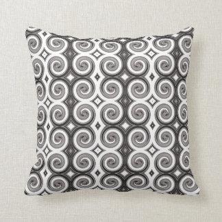 Elegant Taupe Swirls Throw Pillow