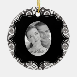 Elegant Taupe Swirls (Wedding) Christmas Ornaments