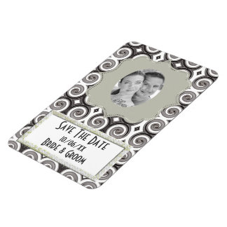 Elegant Taupe Swirls (Wedding) Magnet