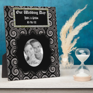 Elegant Taupe Swirls (Wedding) Plaque