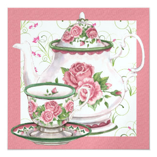 Elegant Tea / Coffee Party - SRF Invitation