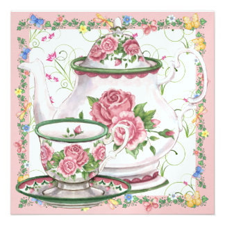 Elegant Tea / Coffee - SRF Personalized Announcements