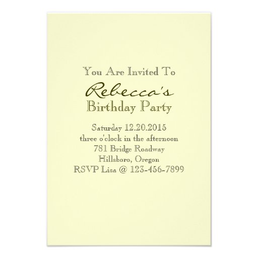 elegant tea cup vintage floral birthday party personalized invitation (back side)