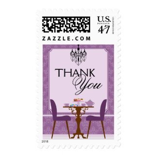Elegant Tea Party Bridal Shower Thank You Postage