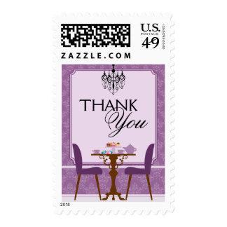 Elegant Tea Party Bridal Shower Thank You Postage