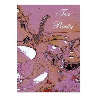 Elegant Tea Party invitation 13 Cm X 18 Cm Invitation Card