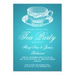 Elegant Tea Party Vintage Tea Cup Turquoise Invite