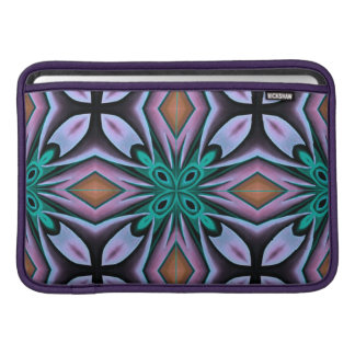 Elegant Teal and Rose Abstract Pattern MacBook Sleeve