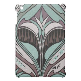 elegant teal and wine art nouveau design iPad mini case