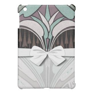 elegant teal and wine art nouveau design iPad mini covers