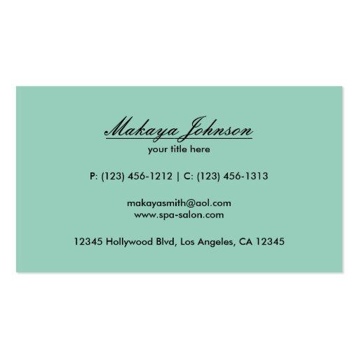 Elegant Teal Blue and Black Chevron Pattern Business Card (back side)