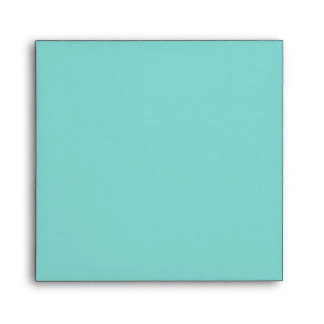 Elegant Teal Blue and Gold Linen Envelopes