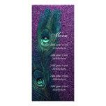 Elegant Teal Blue and Purple Peacock Wedding Custom Invitation