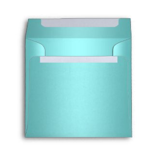 Elegant Teal Blue Linen Envelopes