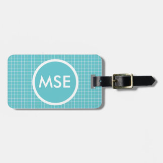 Elegant teal blue pattern bags tags for bags