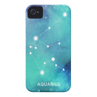 Elegant Teal Blue Watercolor Nebula Aquarius iPhone 4 Case