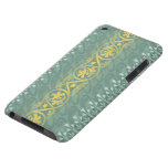 Elegant Teal Butter Damask Case-Mate  iPod Touch Barely There iPod Cases