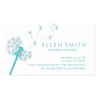 Elegant Teal Dandelion Business Card