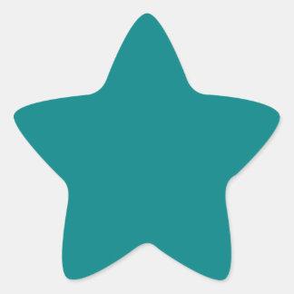 Elegant Teal - Fashion Color Trends. Solid Color Star Sticker