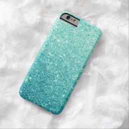 Elegant Teal Glitter Luxury iPhone 6 Case