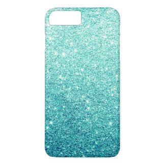 Elegant Teal Glitter Luxury iPhone 7 Plus Case