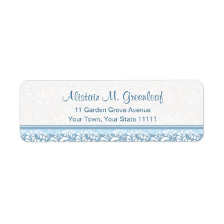 Elegant Teal Green  Arts & Crafts Return Address Label