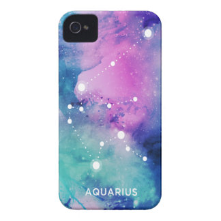 Elegant Teal Pink Blue Nebula Aquarius iPhone 4 Case-Mate Case