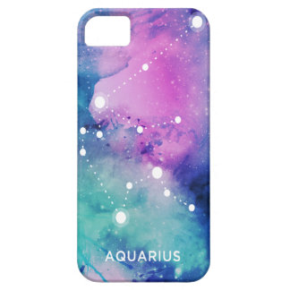 Elegant Teal Pink Blue Nebula Aquarius iPhone SE/5/5s Case