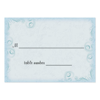 Elegant Teal Scrollwork Wedding Table Placecard Business Cards